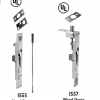 Flush Bolts 1555 and 1557
